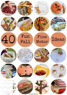 This list of fall fine motor activities and crafts for kids from LalyMom is perfect for encouraging toddlers, preschoolers, and kindergarteners to strengthen their hand muscles. There are many exciting fall activities to choose from; not only will your child have a blast doing these with you, he or she will also be improving their fine motor skills at the same time. Enjoy these fun learning activities with your kids! #finemotorskills #toddler #kindergarten #preschool #fallactivities…
