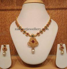 Jewellery Designs: Simple 27 Grams Uncut Set