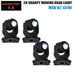 1550.00$  Buy here  - TIPTOP 4XLOT 14 Channels DMX MSD Lamp 132W 2R Professional Beam Moving Head Light Mini Size White / Black Housing Optional