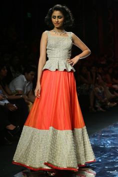 India International Jewellery Week 2013; designer JJ Valaya showcasing wedding sarees and bridal lehengas.