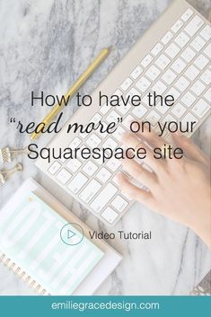 Have you ever wonder how you can have the read more link to your Squarespace site? Here is an easy copy past code that you can use on your own website.