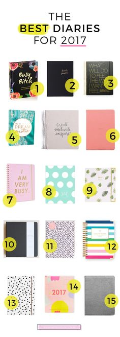 The New Year is almost upon us, and it's time to get organized. I've gathered the BEST diaries for 2017 in one place. Which diary will you pick?