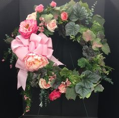 Spring Pink Wreath 2017 by Andrea