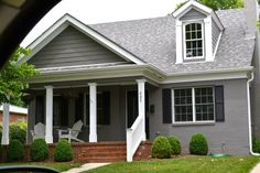 Painted Brick House Grey Houses Exterior Colors Painting