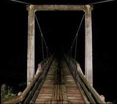Most Terrifying Locations On Earth    The Screaming Bridge  At least 36 people were reported dead on or around the Maud Hughes Road Bridge. Ghostly figures, mists, and lights have been seen, as well as black hooded figures and a phantom train. According to the legend, a man and woman were held up on top of the bridge while travelling on a car. At first the man got out to get help to save the woman but she died, later the man also died...