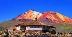 Volcán Tunupa y Hotel de Sal, Uyuni, Potosí, Bolivia