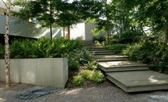 modern garden landscape design native planting concept. Interesting large wooden pallets would work well