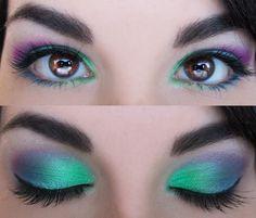 green purple