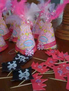 Princess and pirate party - Made these for my Granddaughter's 4th Birthday
