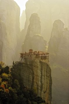 Meteora Monestary, Thessaly, Greece...have been there and it is truly a sight!!!!