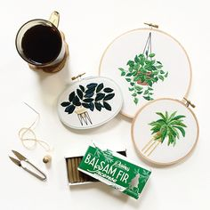 House plant heaven. Hand Stitched by Sarah K. Benning