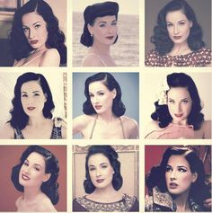 One day, when I have done me time and me money :p this will be my style. LOVE that vintage look :-) Dita's beautiful vintage hair styling