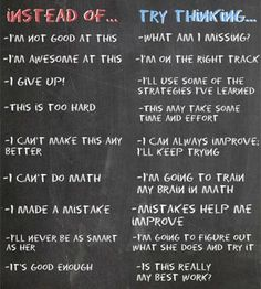 Instilling the idea of a growth mindset is important for students. These phrases can contribute to a students self reflection process. This could be a helpful poster to hang in the classroom to remind students that learning is a process. School Psychology, School Counselor, Social Skills, Social Work, Coping Skills, Classroom Management, Self Help, Counseling, Coaching