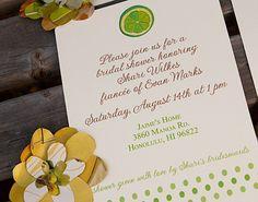 Printable Lime Bridal Shower Invitation.