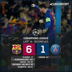 The day history was remade! Blaugrana Loud and Proud! I would remember this day for my entire life! Fc Barcelona, Lionel Messi Barcelona, Lionel Messi Wallpapers, Soccer Stars, Neymar, Dream Team, Champions League, Club, History