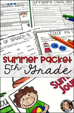 Summer Packet for to Grade Summer School Activities, Math Activities, Math Worksheets, Teaching Resources, Teaching Ideas, Creative Teaching, Reading Help, Reading Lessons, Math Lessons