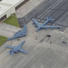B-1 Lancer, B-2 Spirit and B-52 Stratofortress