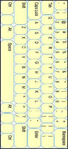 Printable keyboard template for word work station