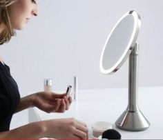 Simplehuman Sensor Activated Lighted Mirror via Atticmag