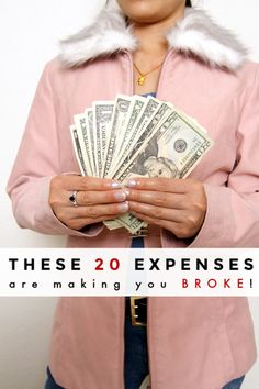 Think you're good at saving money? Maybe not. Take a look at these 20 common expenses and see if you're wasting money on them. If so, they're making you broke!  #frugal #frugallving #frugallivingtips #budget #budgeting #savemoney #savemoneytips #waystosavemoney #howtosavemoney #greatdepression #financialdepression #unemployed #jobloss #thrifty #thriftyliving #frugality