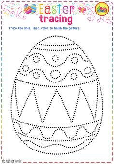Easter themed Preschool Printables - Free worksheets, fine motor skills practice, coloring pages for kids and puzzles - tracing letters, numbers and other activities - fun learning by BonTon TV Easter Activities For Kids, Easter Crafts For Kids, Kids Fun, Preschool Printables, Preschool Activities, Preschool Classroom, Easter Worksheets, Free Worksheets, Easter Coloring Pages