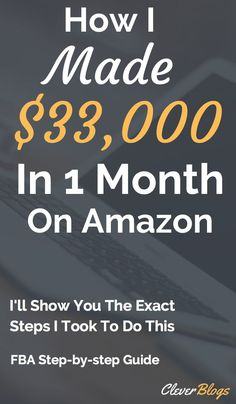 How I Made over $30,000 in one month with Amazon FBA. Starting an FBA business is by far the fastest, and most scalable way to generate a decent income via the internet. I walk you through the EXACT steps that I took when I started my FBA Business and managed to generate $33,000 in one month in online sales.