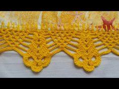 Crochet Mittens Free Pattern, Tunisian Crochet Patterns, Crochet Square Patterns, Crochet Gloves, Crochet Borders, Knit Or Crochet, Filet Crochet, Crochet Stitches, Patron Crochet