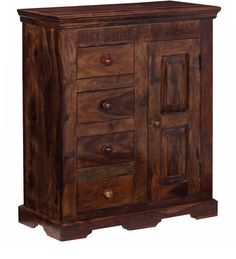 Credenza Teak Provinciale Legno massello di sheesham CS-183588 X 76 X 35 CM | Arts of India – Italy