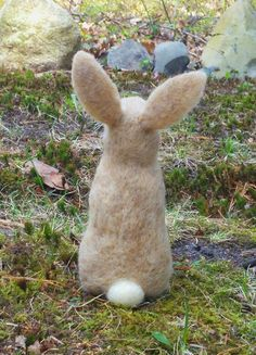 This bunny is sculpted by needle felting and made of sheeps wool. This cute, tan and white rabbit is 8 inches tall from its tail to the top of its ears. This particular bunny has been sold, but I am happy to make you your own custom made bunny that will be very similar to this one. These adorable little bunnies are found in forests and meadows everywhere. A great Easter, springtime, or anytime gift for any bunny or animal lover. This bunny is custom made and ready to be shipped to you…