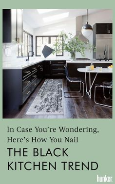 Black finishings in the kitchen immediately elevates your space.