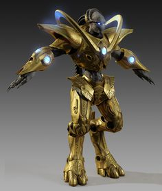 Starcraft 2 - Protoss user design:  http://forums.3dtotal.com/showthread.php?t=70510