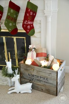 Christmas Crate & Decor
