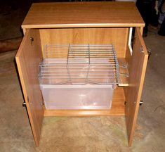 Make your own hidden litter box cabinet. You can camouflage you cat's litter box and make it match your other furniture.  These instructions are pre