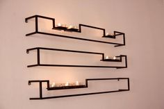 Set of 3 Hand Made Contemporary Floating Candle Sconces by VinTin, $150.00