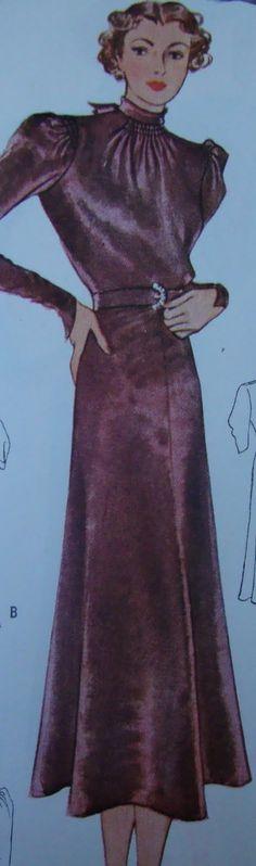McCall 9025 1930s dress pattern