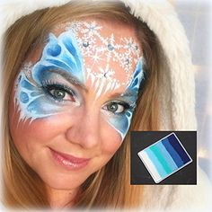 kryvaline Professional Face and Body Paint Icy 50g with Lisa Joy Young Exclusive Matching Design Frozen