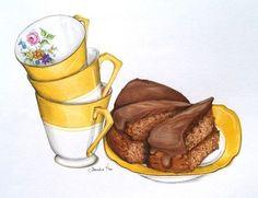 """Подборка картинок для декупажа """"Чашки и вкусняшки"""" часть 1 - Ярмарка Мастеров - ручная работа, handmade"""