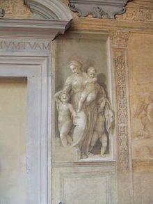 Firenze - Chiostro dello Scalzo - Carità di Andrea del Sarto
