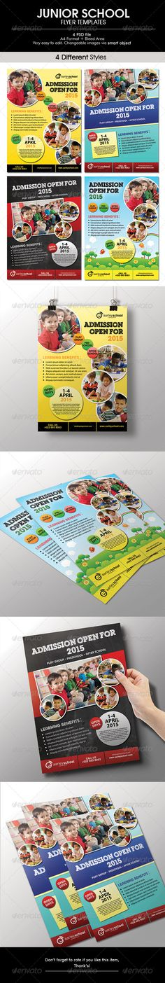 Junior School Flyer  #GraphicRiver