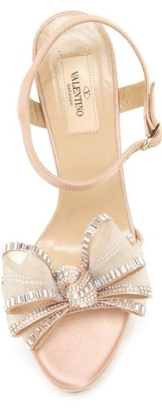 Beautiful blush/nude shoes with bow detail by Valentino