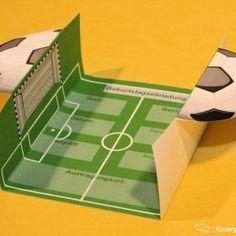 Geburtstags-Einladung für echte Fußballfans