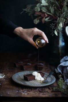 Chocolate Earl Grey Truffle Tart + Sea Salt & Olive Oil – The Kitchen McCabe – Food for the soul – Home Recipe Olives, Granola, Duchesse Anne, Cocoa, Chocolate, Bojon Gourmet, Biscuits, Creamed Honey, Earl Gray