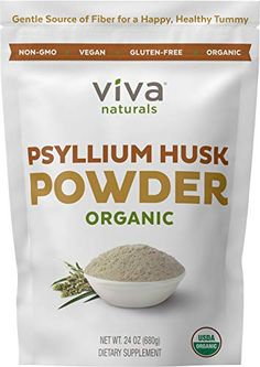 Viva Naturals Organic Psyllium Husk 24 oz 15 lb Everyday Fiber Support Finely Ground for for Easy Mixing -- Read more at the image link. (This is an affiliate link) Low Carb Flour, Low Carb Bread, Keto Bread, Sourdough Bread, Psyllium Husk Fiber, Psyllium Husk Powder, Best Fiber Supplement, Almond Flour Bread, Coconut Flour