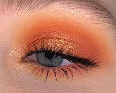 Orange for the SF Giants yesterday! Orange Eyeshadow Looks, Eyeshadow For Blue Eyes, Orange Eye Makeup, Dramatic Eye Makeup, Eye Makeup Art, Hooded Eye Makeup, Makeup For Green Eyes, Blue Eye Makeup, Skin Makeup