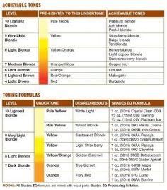 Redken Color Fusion Color Chart Color charts Redkin