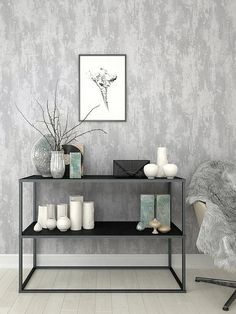 wallpaper bedroom Boutique Industrial T - wallpaper Feature Wall Living Room, Accent Walls In Living Room, Living Room Grey, Living Room Decor, Bedroom Decor, Wall Paper Bedroom, Bedroom Red, Living Rooms, Brick Wallpaper Living Room