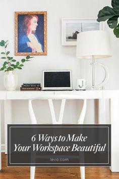 Add plants to your #workspace to make it beautiful! www.levo.com @Homepolish