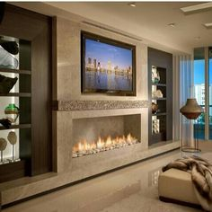 living room with fireplace and tv. basement fire place or living room  Living Room Humble Abodes Pinterest rooms and Tv