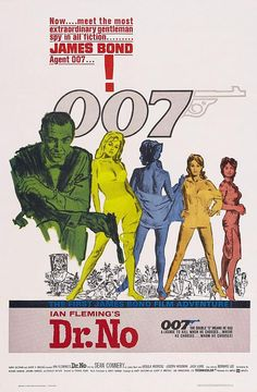 James Bond 007 - Dr. No 1962 Movie Poster Stretched Canvas  The Canvas is supplied hand stretched and around 20mm ( 7/8 inch) thick pine stretcher