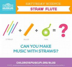 Saturday Science: Straw Flute